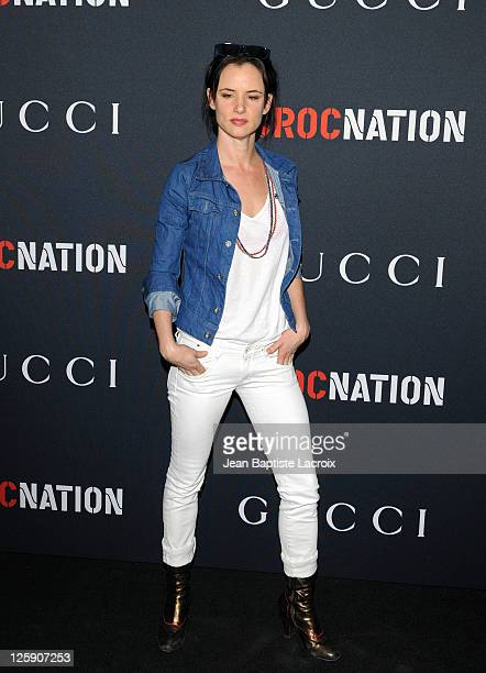 Juliette Lewis arrives at the Gucci and RocNation PreGRAMMY brunch held at Soho House on February 12 2011 in West Hollywood California