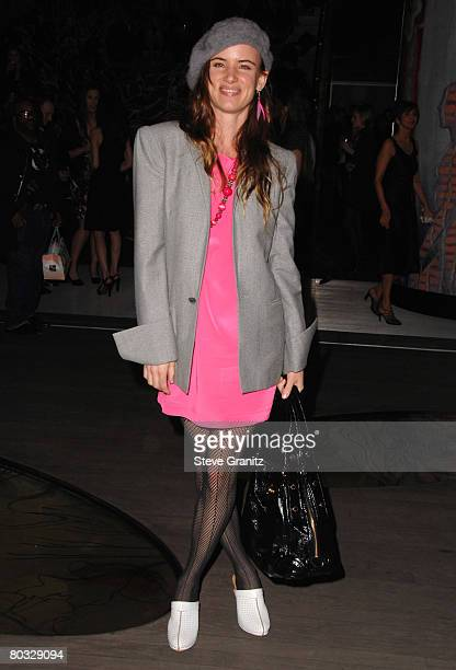 Juliette Lewis arrives at the Prada Presents Trembled Blossoms LA on March 19 2008 at Prada Beverly Hills Epicenter in Beverly Hills California