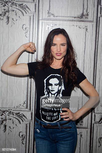 Juliette Lewis attends AOL Build Presents 'Hard Lovin' Woman' at AOL Studios In New York on April 14 2016 in New York City