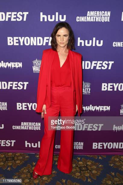 Juliette Lewis attends the 2019 Beyond Fest 25th anniversary screening of Natural Born Killers at the Egyptian Theatre on October 08 2019 in...
