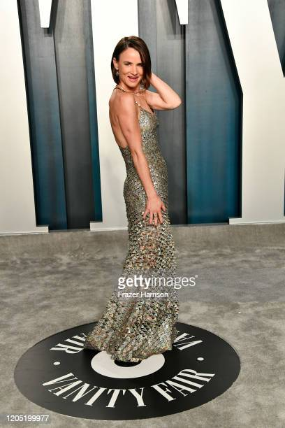 Juliette Lewis attends the 2020 Vanity Fair Oscar Party hosted by Radhika Jones at Wallis Annenberg Center for the Performing Arts on February 09...