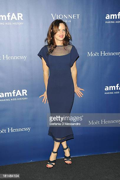Juliette Lewis attends the amfAR Milano 2013 Gala after party presented by Vionnet as part of Milan Fashion Week Womenswear Spring/Summer 2014 at La...