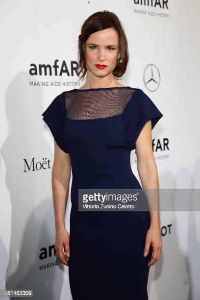 Juliette Lewis attends the amfAR Milano 2013 Gala as part of Milan Fashion Week Womenswear Spring/Summer 2014 at La Permanente on September 21 2013...