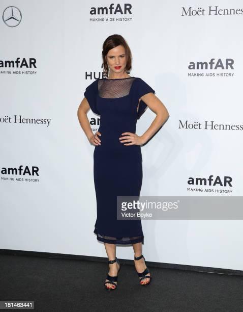 Juliette Lewis attends the amfAR Milano 2013 Gala as part of Milan Fashion Week Womenswear Spring/Summer 2014 at La Permanente on September 21, 2013...