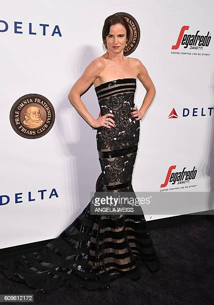 Juliette Lewis attends the Friars Club Honors Martin Scorsese With Entertainment Icon Award at Cipriani Wall Street on September 21 2016 in New York...