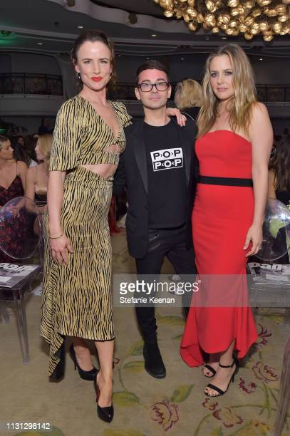 Juliette Lewis Christian Siriano and Alicia Silverstone attend The Daily Front Row Fashion LA Awards 2019 on March 17 2019 in Los Angeles California