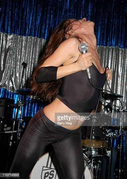 Juliette Lewis during Juliette and the Licks in Concert Silverlake at Spaceland in Los Angeles California United States