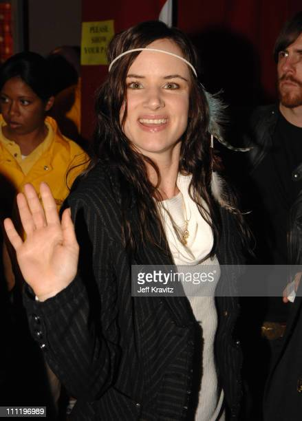 Juliette Lewis during KROQ Almost Acoustic Christmas 2006 Night 2 Backstage at Gibson Universal Amphitheater in Universal City California United...