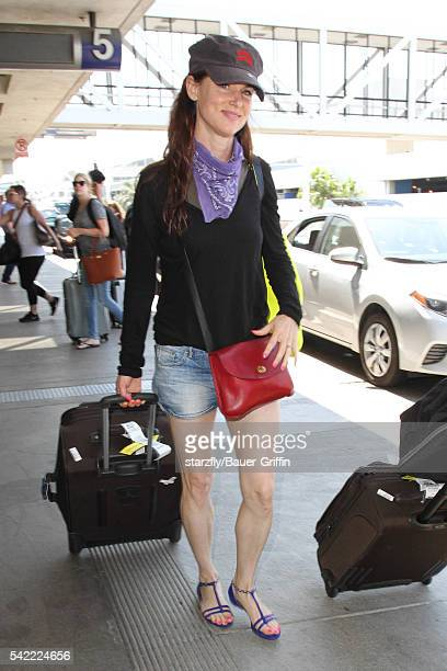 Juliette Lewis is seen at LAX on June 22 2016 in Los Angeles California