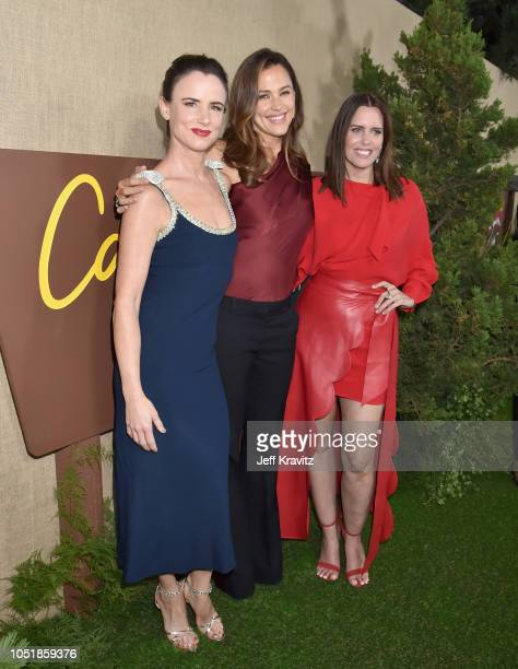 Juliette Lewis Jennifer Garner and Ione Skye attend HBO's Los Angeles premiere of Camping at Paramount Studios on October 10 2018 in Hollywood...