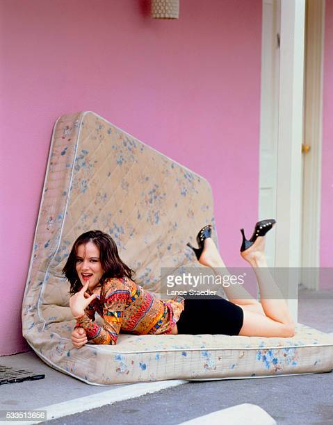 Juliette Lewis Lying on a Mattress