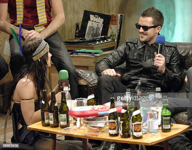Juliette Lewis of Juliette and The Licks and Brandon Flowers of The Killers