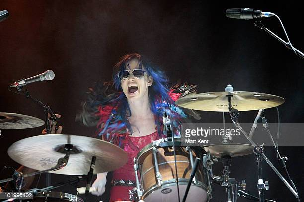 Juliette Lewis performs at day 1 of the Isle Of Wight Festival at Seaclose Park on June 11 2010 in Newport Isle of Wight