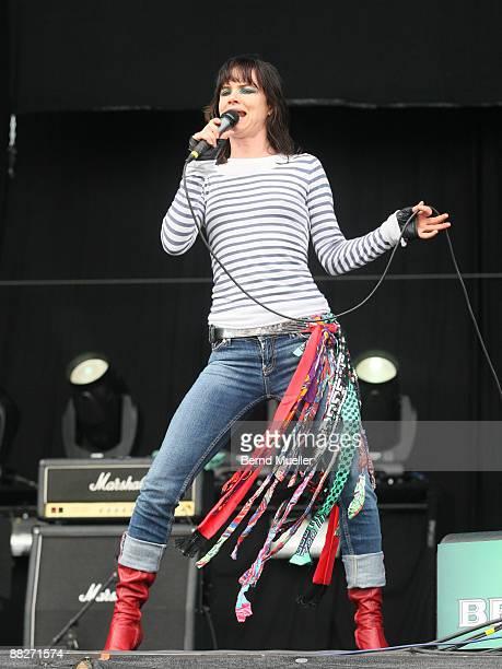 Juliette Lewis performs on stage on day 2 of Rock Im Park at Frankenstadion on June 6, 2009 in Nuremberg, Germany.