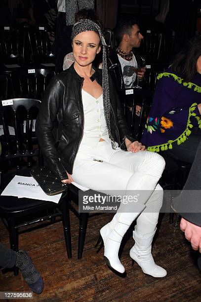 Juliette Lewis seen in the front row at the Julien Macdonald show at London Fashion Week Autumn/Winter 2011 on February 21 2011 in London England