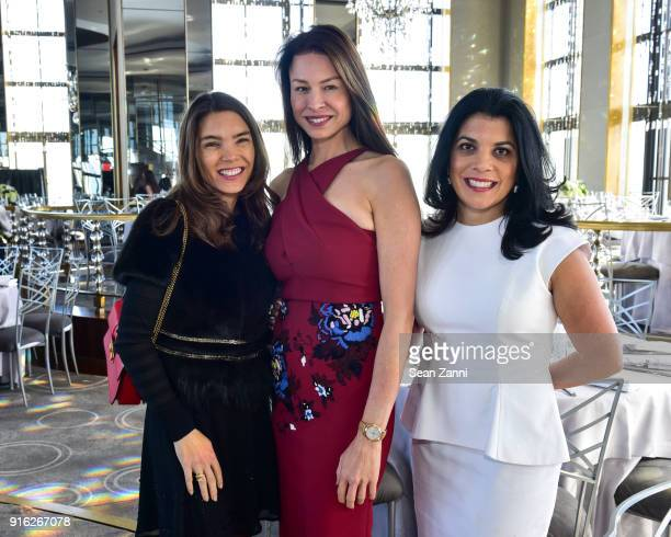 Juliette Longuet Paige Boller and Ranika Cohen attend Central Park Conservancy's 5th Annual Playground Partners Winter Luncheon at The Rainbow Room...