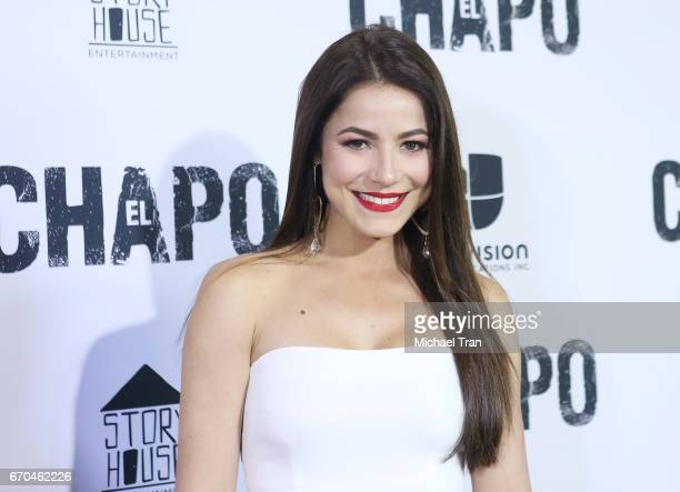 "Juliette Pardau arrives at the Los Angeles premiere of Univison's ""El Chapo"" hel at Landmark Theatre on April 19, 2017 in Los Angeles, California."