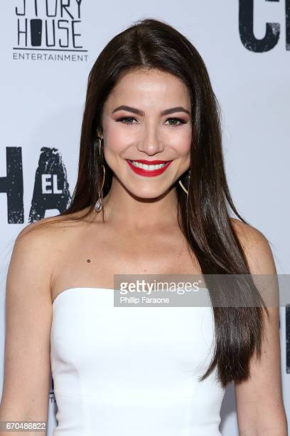 "Juliette Pardau attends the premiere of Univison's ""El Chapo"" at Landmark Theatre on April 19, 2017 in Los Angeles, California."