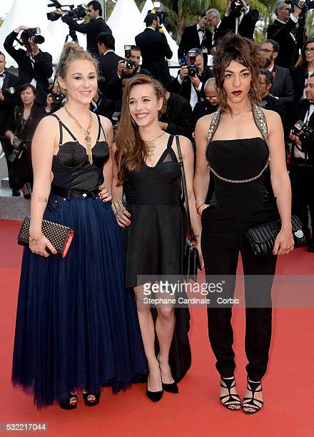Juliette Saumagne Elisa Paris and Lucie Lebrun attends The Unknown Girl Premiere during the 69th annual Cannes Film Festival at the Palais des...