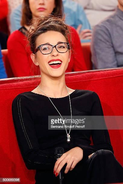 Juliette Saumagne presents her Single 'En Attendant l Album' during 'Vivement Dimanche' French TV Show at Pavillon Gabriel on December 9 2015 in...