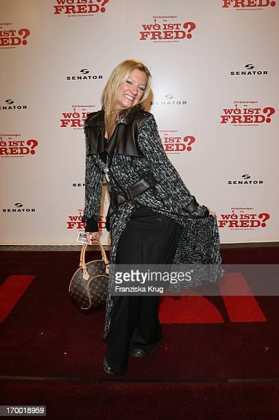 Juliette Schoppmann At The Premiere Of Where Is Fred In the Cinestar Sony Center in Berlin