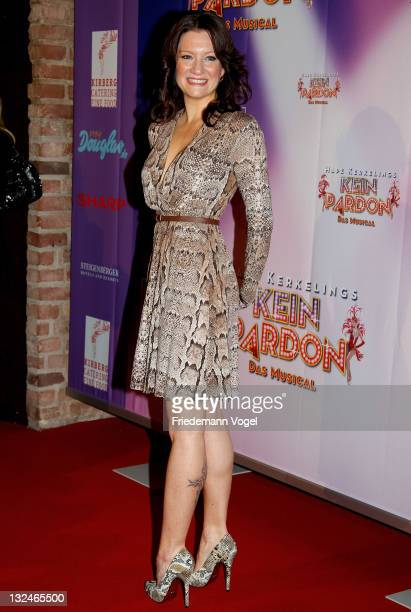 Juliette Schoppmann poses during the World Premiere of the 'Kein Pardon' musical at the Capitol Theater on November 12 2011 in Duesseldorf Germany