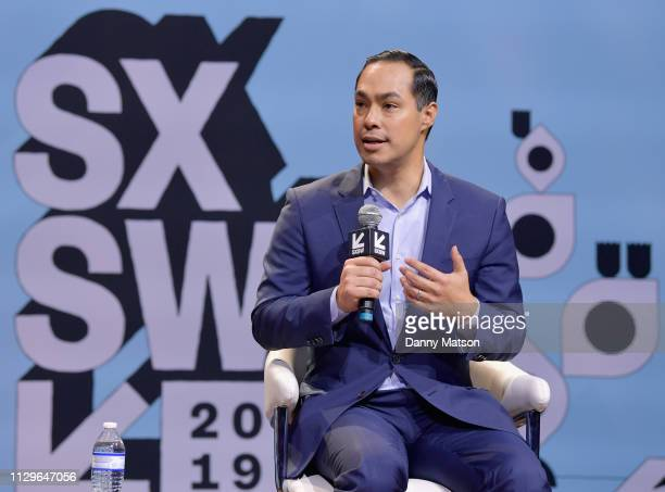Julián Castro speaks onstage at Conversations About America's Future Former US Secretary of Housing Urban Development Julián Castro during the 2019...