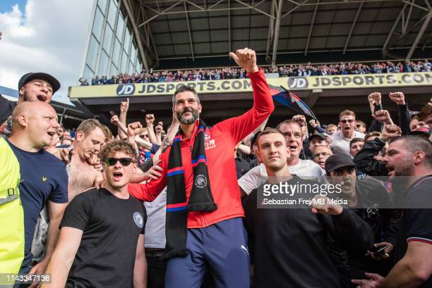Julián Speroni of Crystal Palace with fans during the Premier League match between Crystal Palace and AFC Bournemouth at Selhurst Park on May 12,...