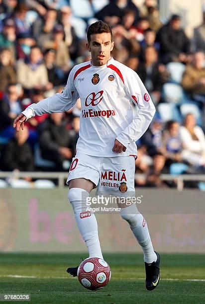 Julio Alvarez of Mallorca in action during the La Liga match between Getafe and Mallorca at Coliseum Alfonso Perez on March 13 2010 in Getafe Spain...