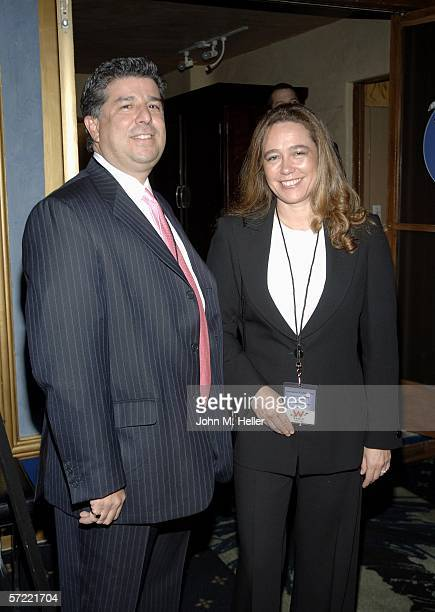 Julio Aponte Local Sales Manager of W Radio and Sonia Dula' President Grupo Latino De Radio at the Launch Party of W Radio at the Music Box at the...