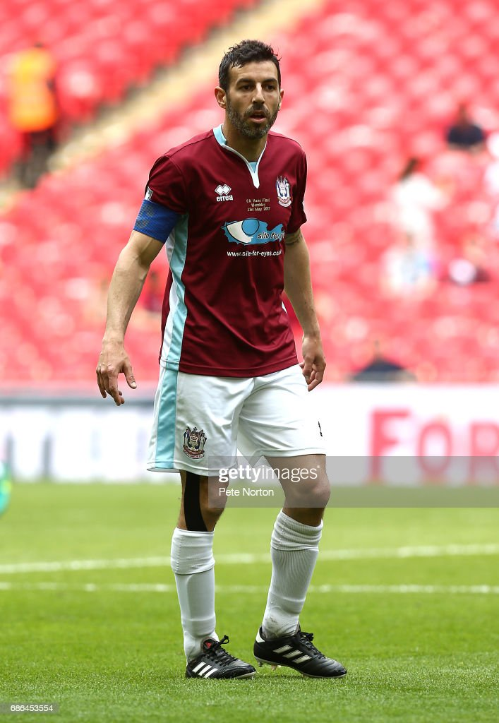 Julio Arca of South Shields in action during The Buildbase FA Vase Final between South Shields and Cleethorpes Town at Wembley Stadium on May 21, 2017 in London, England.