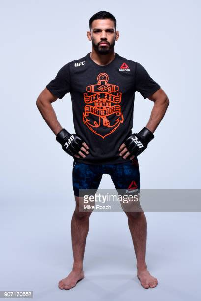 Julio Arce poses for a portrait during a UFC photo session on January 17 2018 in Boston Massachusetts