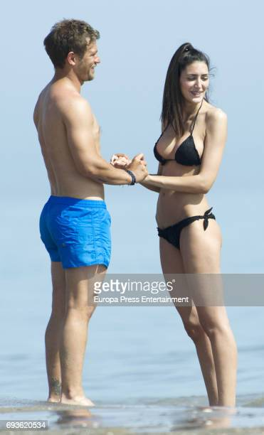 Julio Benitez and Isabel Jimenez are seen on April 13 2017 in Malaga Spain