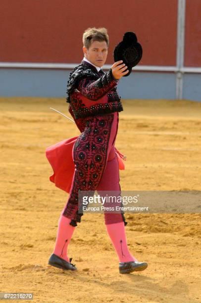 Julio Benitez attends the bullfighting of the brothers Manuel Benitez 'El Cordobes' and Julio Benitez on April 22 2017 in Palma Del Rio Spain