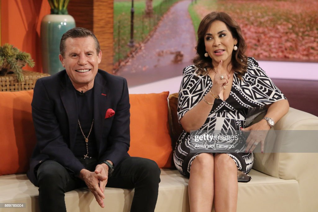 Julio Cesar Chavez and his wife Miriam Chavez are seen on ...
