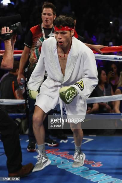 Julio Cesar Chavez Jr enters the ring prior to facing Canelo Alvarez during their catchweight bout at TMobile Arena on May 6 2017 in Las Vegas Nevada