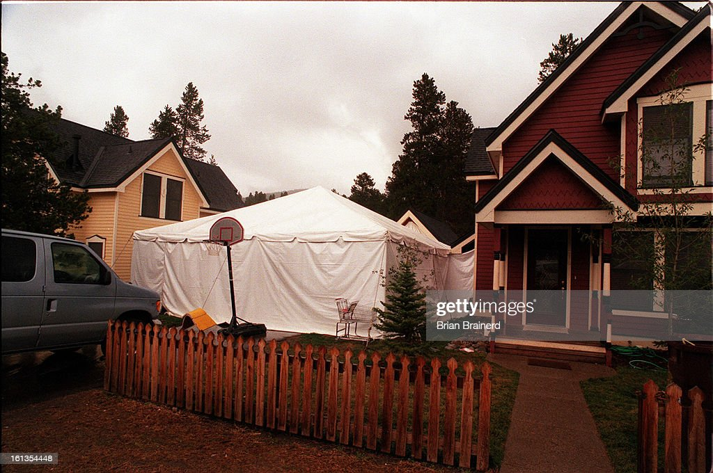 Julio Cesar Chavez set a tent set up next to a victorian house in Breckenridge as & Julio Cesar Chavez set a tent set up next to a victorian house in ...