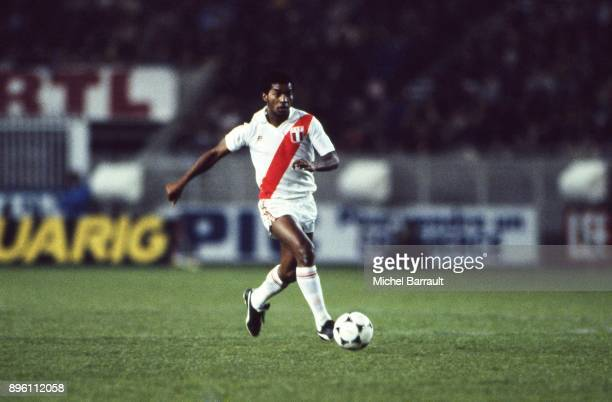 Julio Cesar Uribe of Peru during the International Friendly match between France and Peru at Parc des Princes in Paris on April 28th 1982