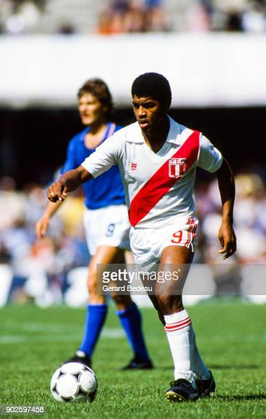 Julio Cesar Uribe of Peru during the World Cup match between Italy and Peru at Balaidos Stadium Vigo Spain on 18h June 1982