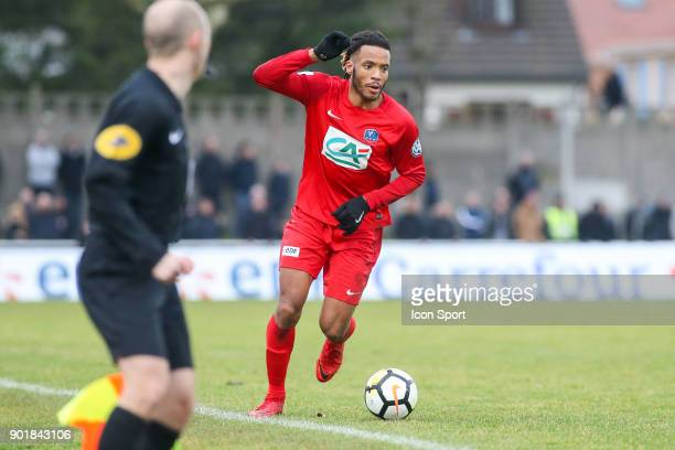 Julio Donisa of Concarneau during the french National Cup match between Houilles and Concarneau on January 6 2018 in Houilles France