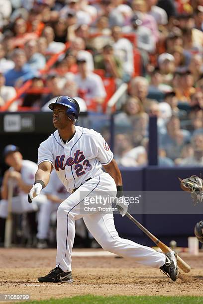 Julio Franco of the New York Mets bats against the New York Yankees at Shea Stadium on May 20 2006 in Flushing New York The Yankees defeated the Mets...