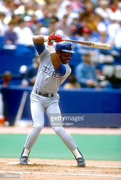 Julio Franco of the Texas Rangers bats during an Major League Baseball game circa 1991 Franco played for the Rangers from 198993