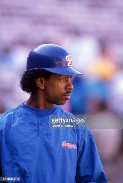 ANAHEIM CA Julio Franco of the Texas Rangers circa 1989 against the California Angels at the Big A in Anaheim California