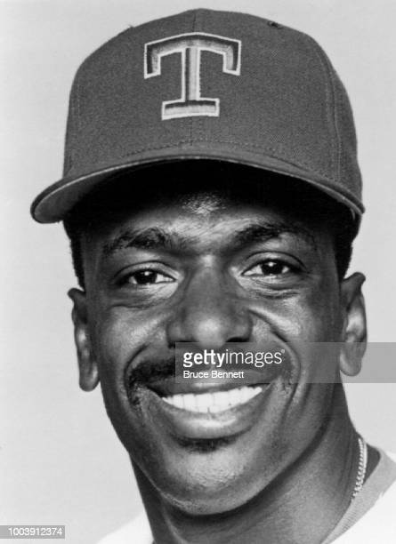 Julio Franco of the Texas Rangers poses for a portrait during MLB Spring Training circa March 1989 at Charlotte Sports Park in Port Charlotte Florida