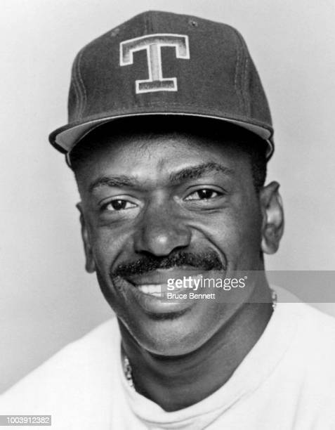 Julio Franco of the Texas Rangers poses for a portrait during MLB Spring Training circa March 1993 at Charlotte Sports Park in Port Charlotte Florida