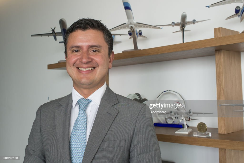 Julio Gamero, chief commercial officer of ABC Aerolineas SA de CV (Interjet), stands for a photograph at the company's office in Mexico City, Mexico, on Friday, Jan. 5, 2018. Interjet made a splash as Mexico's first airline for the budget-conscious flyer when it was founded in 2005. But in the years that followed, the carrier hit turbulent skies, causing the company's overall market share to stagnate while Competitor Volaris captured more passengers. Photographer: Lujan Agusti/Bloomberg via Getty Images
