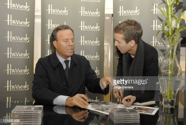 Julio Iglesias and Fan during Julio Iglesias Photocall and Signing Session at Harrods November 15 2006 at Harrods in London Great Britain