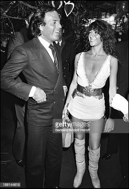 Julio Iglesias and Maruschka Detmers at Regine's night club in New York for Valentine's Day in 1982