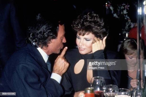 Julio Iglesias and Raquel Welch circa 1984 in Atlantic City New Jersey