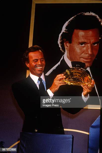 Julio Iglesias attends the Launch of Only by Julio Iglesias Perfume for Women circa 1989 in New York City